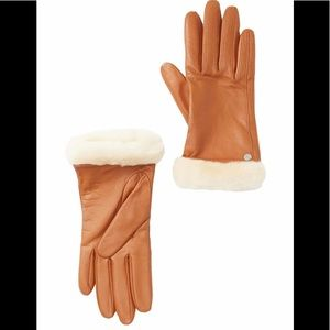 Ugg Women's Leather Shearling Gloves, Large, NWT